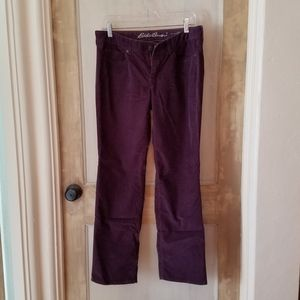 Eddie Bauer deep aubergine corduroy pants